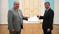 The Ambassador of the Kingdom of Belgium to Armenia Marc Michielsen presented his credentials to President Armen Sarkissian