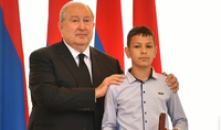 We must never stop thinking about independence and statehood. President Armen Sarkissian presented state awards on Independence Day