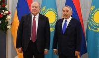 Первый Президент Казахстана Нурсултан Назарбаев направил поздравительное послание Президенту Саркисяну