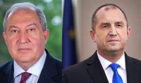 President of Bulgaria Rumen Radev sent a congratulatory message to President Armen Sarkissian on Independence Day