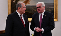 Germany will continue to stand firmly by Armenia. President Frank-Walter Steinmeier sent a congratulatory message to Armen Sarkissian