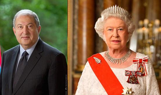 A l'occasion du jour de l'indépendance, Sa Majesté la Reine Elizabeth II a envoyé un message de félicitations au Président de la République Armen Sarkissian
