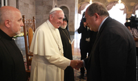 I pray for the blessing of all those who work responsibly and fully for the security and prosperity of the people. Pope Francis sent a congratulatory message to President Armen Sarkissian