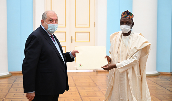 The newly appointed Ambassador of the Federal Republic of Nigeria to Armenia presented his credentials to President Armen Sarkissian