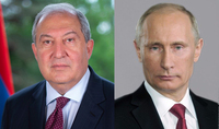 Developing relations in the allied spirit is in the interests of our brotherly peoples. RF President Putin congratulated President Sarkissian
