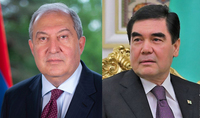 President Armen Sarkissian sent a congratulatory message to Gurbanguly Berdimuhamedov on the National Day of Turkmenistan