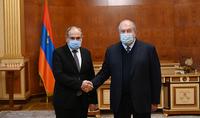 The meeting of President Armen Sarkissian and Prime Minister Nikol Pashinyan