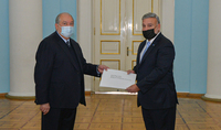 The newly appointed Ambassador of Peru to Armenia presented his credentials to President Armen Sarkissian