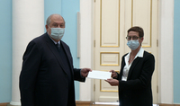 Armenia values the support and solidarity of President Emanuel Macron and the people of France. The newly appointed Ambassador of France presented her credentials to President Armen Sarkissian