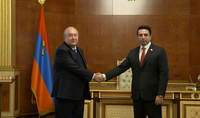 President Armen Sarkissian met with the Speaker of the National Assembly Alen Simonyan