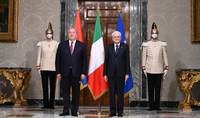 State visit of the President Armen Sarkissian to the Italian Republic