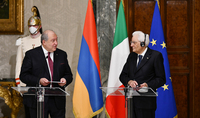High level of political dialogue and mutual readiness to develop relations. The Presidents of Armenia and Italy made statements for the press