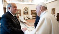 В тяжелые и трудные для нас дни Ватикан протянул руку солидарности нашей стране и народу - Президент Армен Саркисян встретился с Папой Римским Франциском