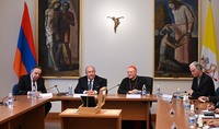 President Armen Sarkissian met with the Chairman of the Pontifical Council for Culture of the Holy See. A Memorandum of Understanding on cooperation in the field of culture was signed between the Holy See and Armenia