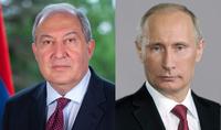 Le Président Armen Sarkissian a envoyé un message de félicitations à Vladimir Poutine à l'occasion de son anniversaire