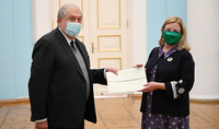 Newly appointed Ambassador of Ireland to Armenia Martina Feeney presented credentials to President Armen Sarkissian