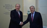UN Secretary General António Guterres congratulates President Armen Sarkissian on Independence Day