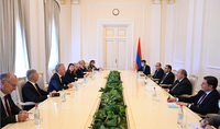 Le Président Armen Sarkissian a reçu une délégation conduite par le Président du Groupe des rapporteurs sur la démocratie du Comité des ministres du Conseil de l'Europe Mårtin Ehnberg