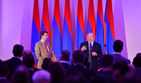Il y aura de nouvelles opportunités pour les petits pays comme l'Arménie dans le nouveau monde. Réception au nom du Président Armen Sarkissian en l'honneur des participants au Armenian Summit of Minds