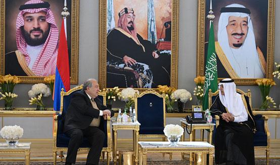 Հայաստանի Հանրապետության նախագահ Արմեն Սարգսյանը պատմական այց է կատարել Սաուդյան Արաբիա