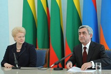 Press Statements by Presidents Serzh Sargsyan and  Dalia Gribauskaite at the joint press conference