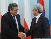 Statement by President Serzh Sargsyan at the joint press conference with the President of Poland Bronislaw Komorowski