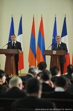 Заявление Президента Республики Армения Сержа Саргсяна во время совместной пресс-конференции с Президентом Франции Николя Саркози