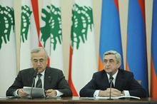 Statement by President Serzh Sargsyan at the joint press conference with the President of Lebanon Michel Suleiman