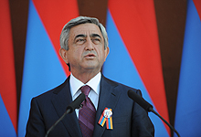 Congratulatory remarks by President Serzh Sargsyan at the reception on the occasion of the 20th anniversary of independence with the representatives of the RA social and economic area