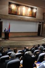 Речь Президента Сержа Саргсяна в связи с открытием нового научного комплекса Матенадарана