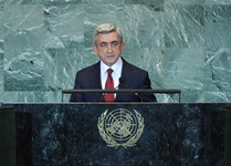 Speech by Serzh Sargsyan, the President of the Republic of Armenia in the 66th session of the General Assembly