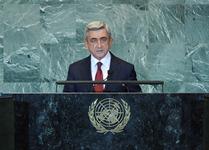Выступление Президента Республики Армения Сержа Саргсянa на 66-ой сессии Генеральной Ассамблеи ООН