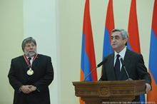 Remarks by President Serzh Sargsyan at the reception held on the occasion of awarding the co-founder of Apple Computer Corporation Steve Wozniak with the RA Presidential Award