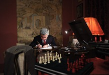 On the occasion of the 115th birth anniversary of Eghishe Charents, Serzh Sargsyan visited the Charents Museum