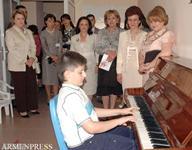 Առաջին տիկին Ռիտա Սարգսյանը եւ Կիպրոսի առաջին տիկին Էլսի Խրիստոֆիան այցելել են աուտիզմով հիվանդ երեխաների դպրոց