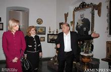 First Lady Rita Sargsyan and First Lady of Latvia, Lilita Zatlers visited Sergei Parajanov Museum