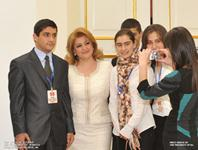 At the initiative of First Lady, the best students of graduating classes were invited to the Presidential Palace