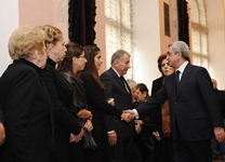President Serzh Sargsyan attended the farewell ceremony for the renowned composer Alexander Harutyunian