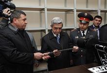 Серж Саргсян присутствовал на церемонии открытия Ереванского учетно-экзаменационного отдела Дорожной полиции РА