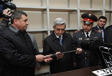 Serzh Sargsyan attended the opening ceremony of the Yerevan Registration and Control Department of the RA Traffic Police