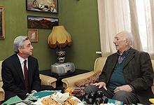 Նախագահ Սերժ Սարգսյանն այցելել է ՀՀ ԳԱԱ ակադեմիկոս, հասարակական-պետական գործիչ Սերգեյ Համբարձումյանին