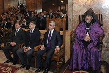 President Serzh Sargsyan attended the Candle Lighting holly liturgy