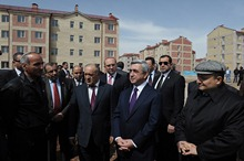 President Serzh Sargsyan conducted a working visit to Shirak marz