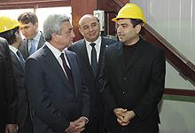 Նախագահ Սերժ Սարգսյանն աշխատանքային այցով մեկնել է Սյունիքի մարզ