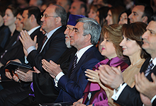 President Serzh Sargsyan attended the concert of the world famous tenor Andrea Bocelli