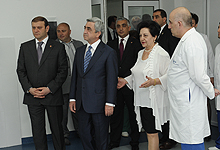 President Serzh Sargsyan visited the Nork-Marash Medical Center of Yerevan