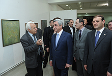 """Serzh Sargsyan participated at the opening of the exhibition of the Georgian-Armenian artists named """"My homeland's call"""""""