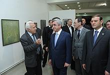 Серж Саргсян принял участие в церемонии открытия выставки армянских художников Грузии, проходящей под девизом «По зову моей Родины»