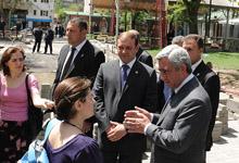 Նախագահ Սերժ Սարգսյանն այցելել է մայրաքաղաքի Մաշտոցի պուրակ