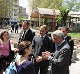 Серж Саргсян посетил столичный сквер Маштоца